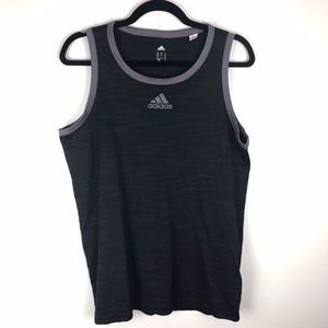Adidas   Charcoal Heathered Athletic Tank Medium